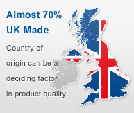 Almost 70% of products are UK Made