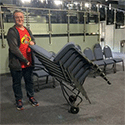 3 Cheers for Church Chair Trolley!