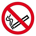 Smoking Signs Give Away For No Smoking Day March 12th 2014