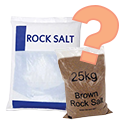 White De-Icing Salt or Brown Rock Salt