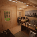 Create the perfect home office from a log cabin