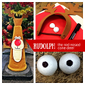 Create Your Own Rudolph the Red Nosed Cone-deer