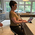 Saddle Stool Soothes Spine for Inventor
