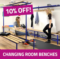 10% off selected changing room benches