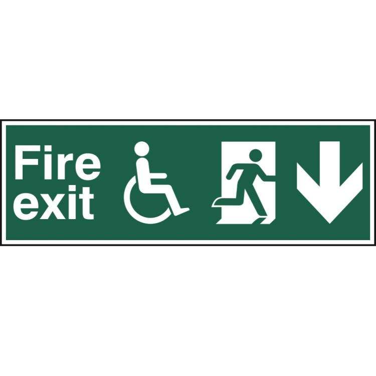 Exit Stair Down Sign - ADA compliant sign. xsign