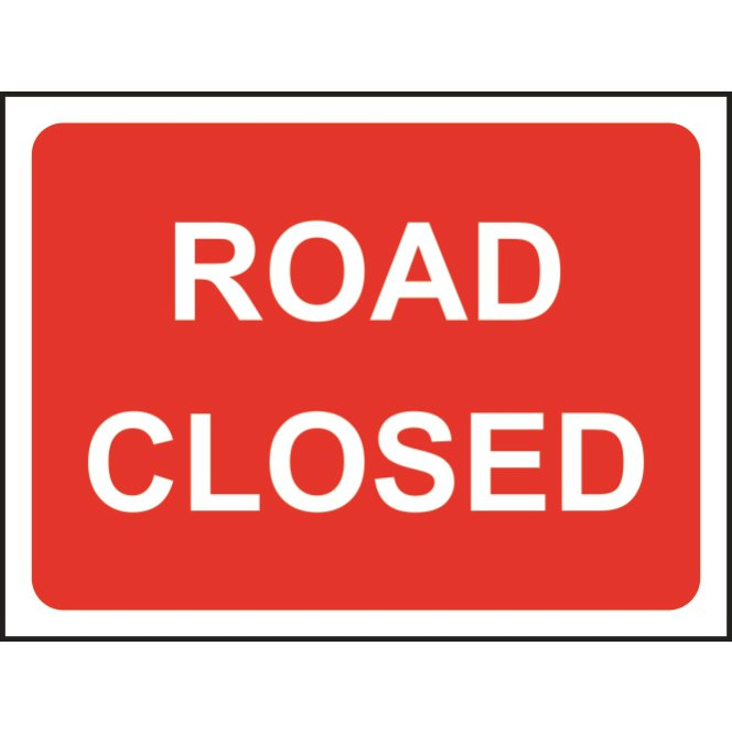 Road closed roll up sign ese direct