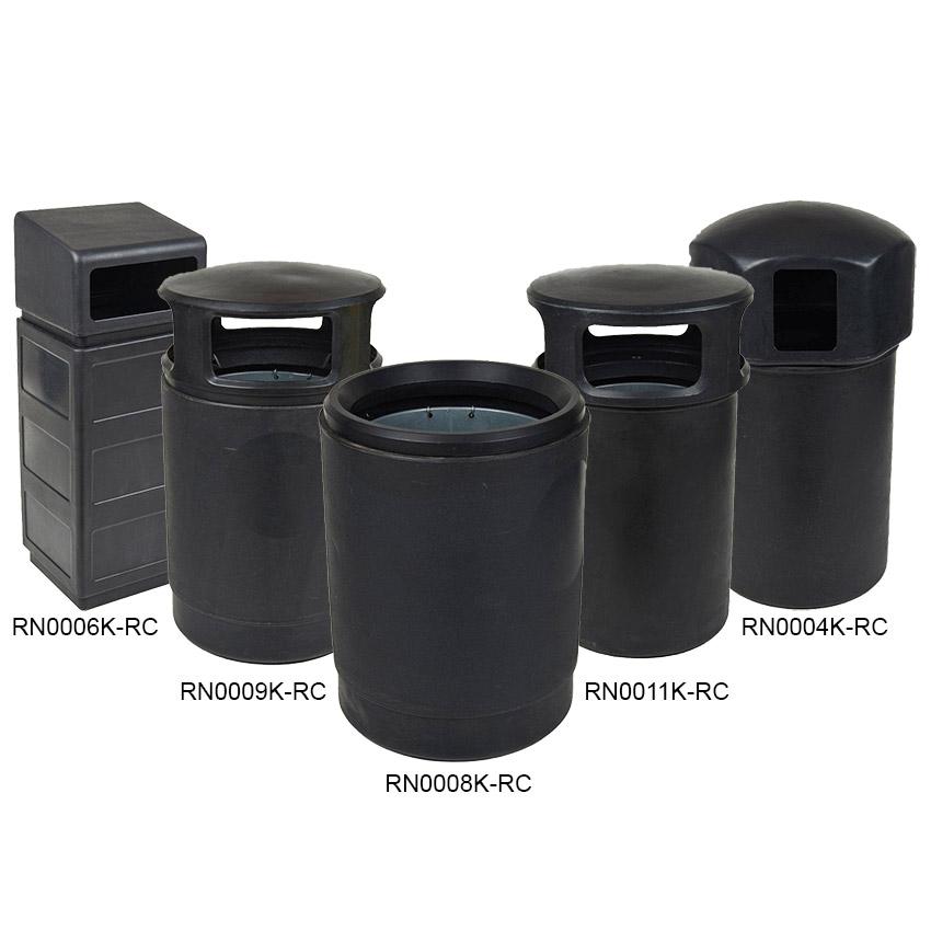 Recycled<br /> Black Mainline Outdoor Waste Bins