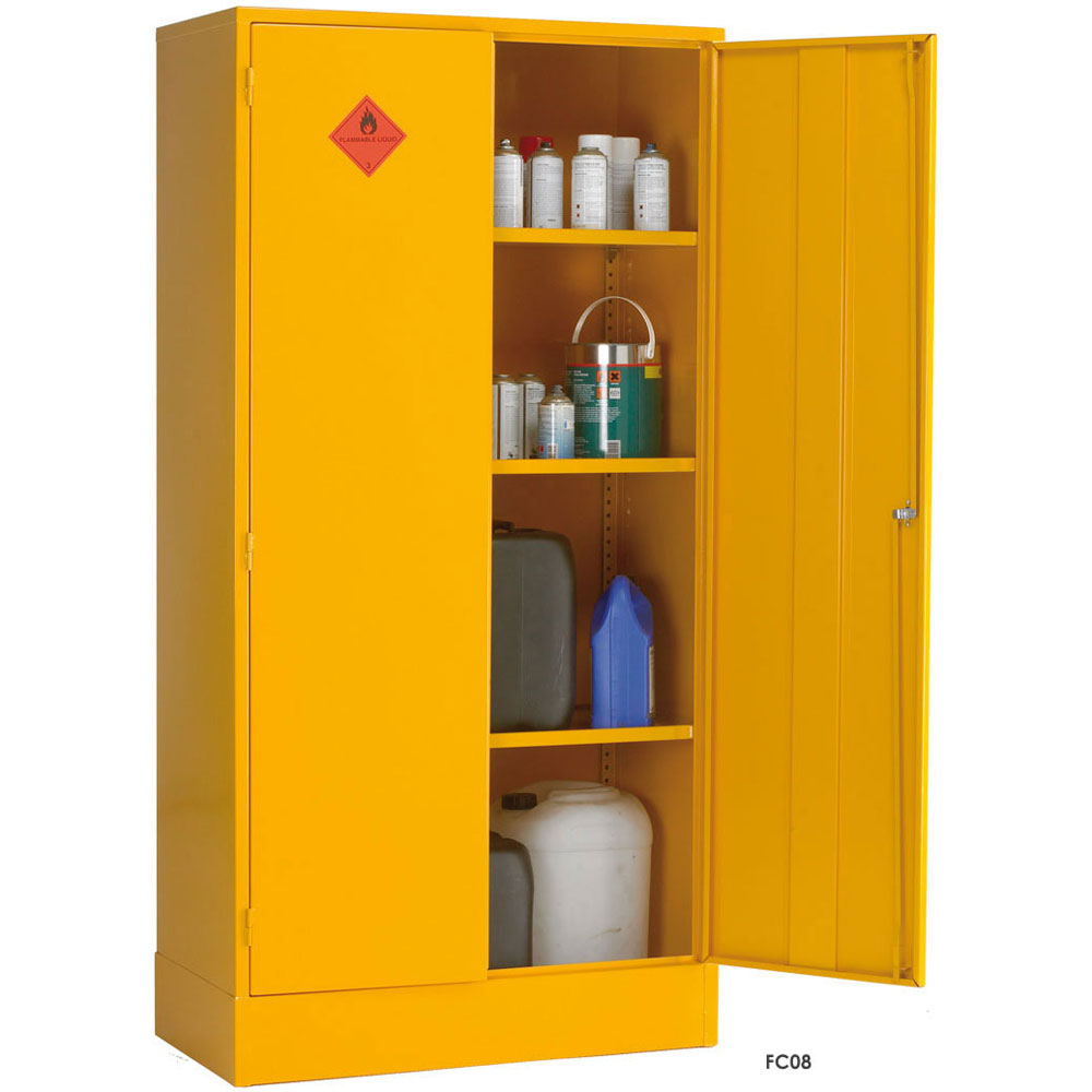 Flammable liquid storage cabinets cupboards ese direct for Storage in cupboards