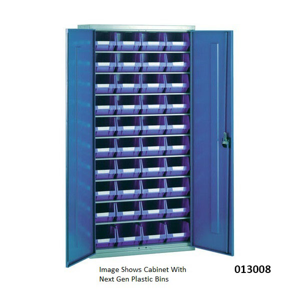 Steel Storage Cabinet With 40 Plastic Containers Ese Direct
