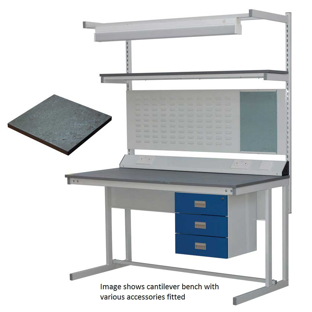 BC Cantilever Workbench with Lino Worktop
