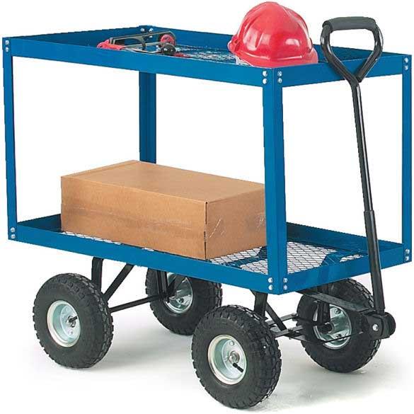 Mesh Platform Truck with Two Mesh Shelves 150kg capacity