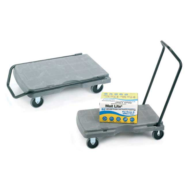 Plastic Folding Platform Trolleys 180kg cap