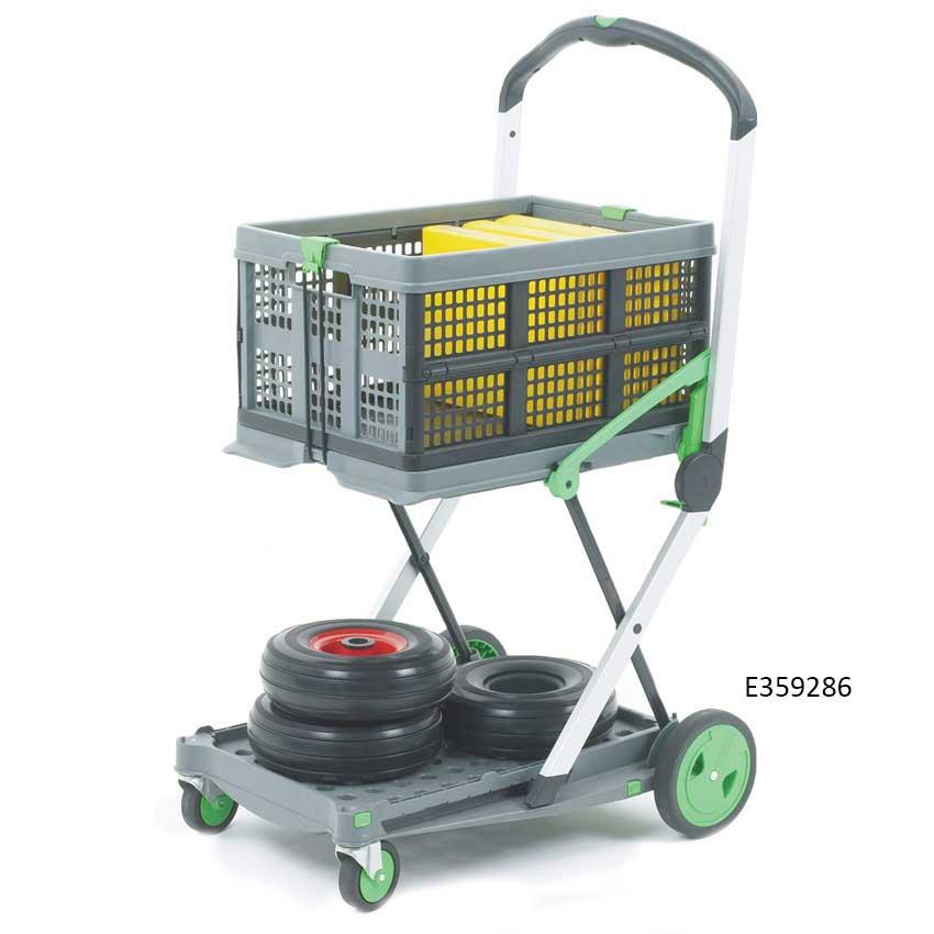 Plastic / Aluminium Folding Trolley with Box & Tray 60kg cap