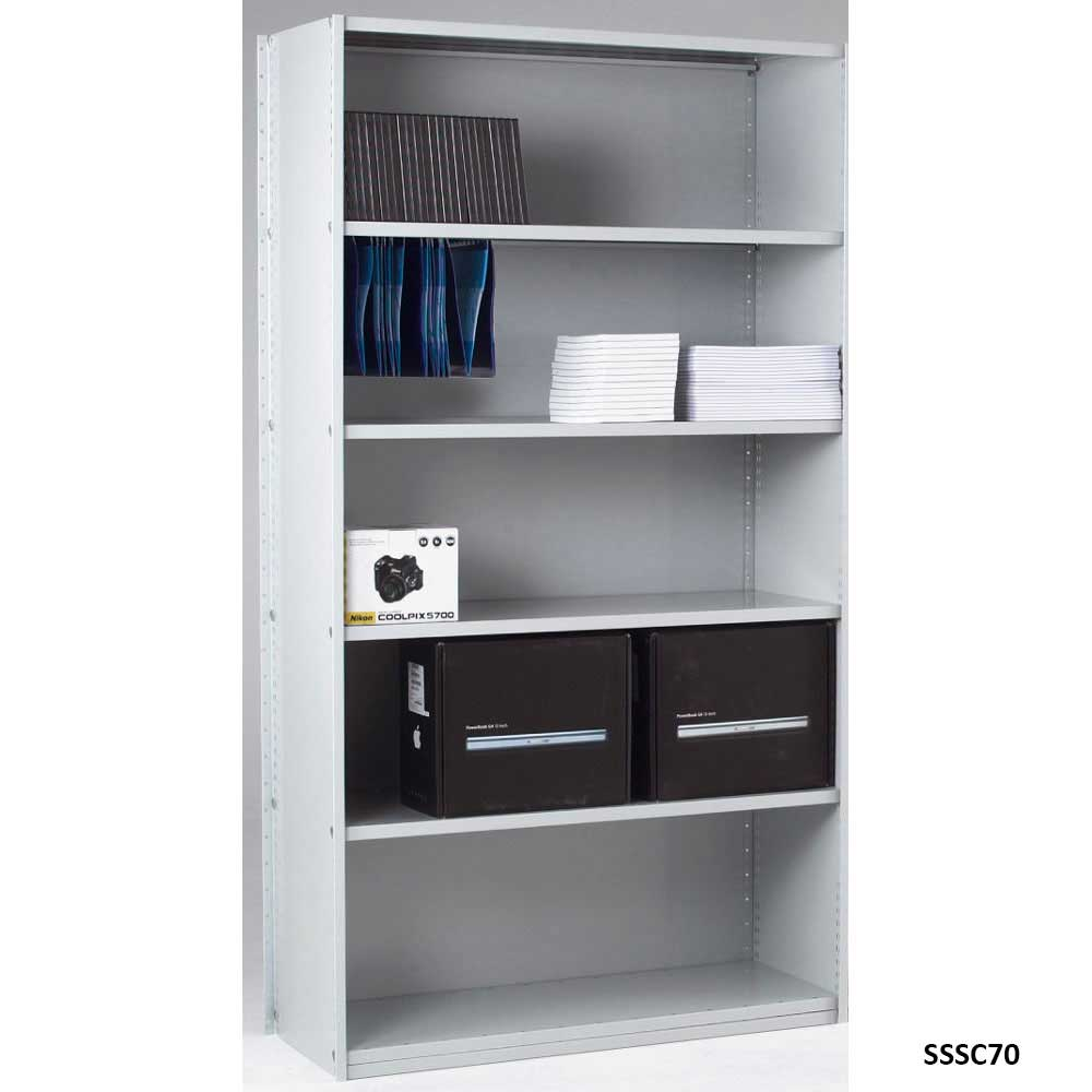 Closed Back Solo Shelving Starter Bay with 6 Shelves