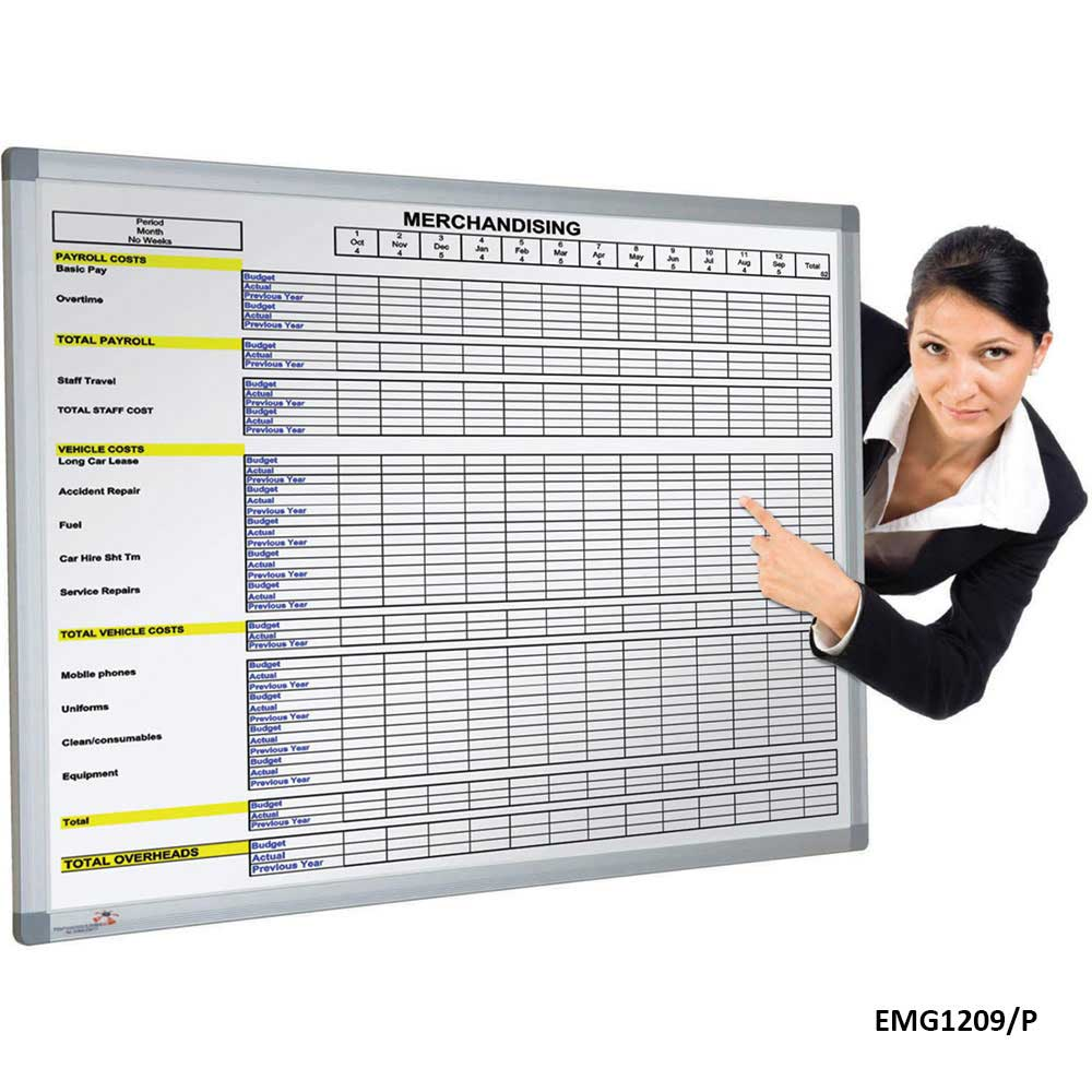Pre-Printed Magnetic Whiteboard