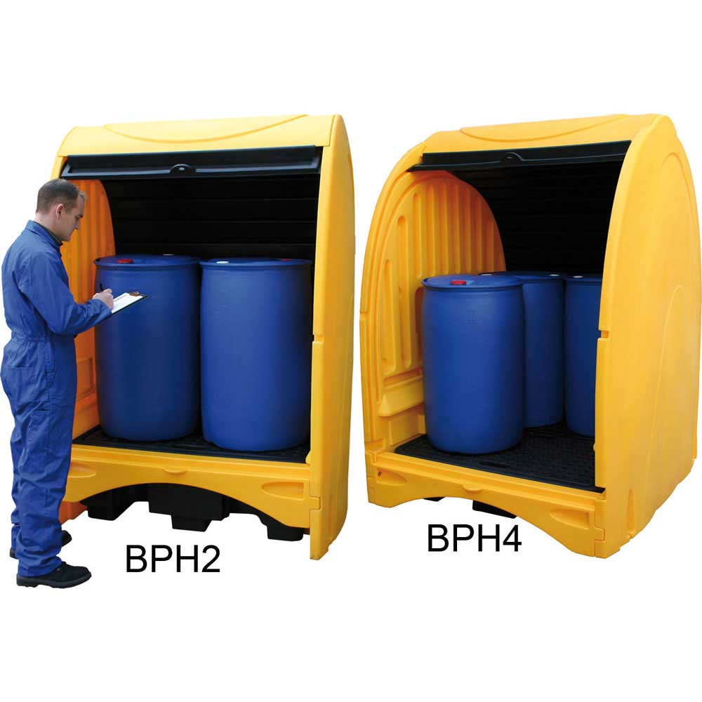 Covered Outdoor Storage : Outdoor covered drum storage unit ese direct