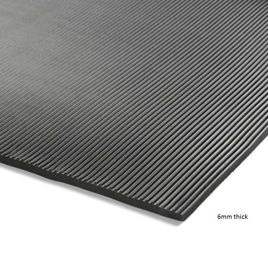 Ribbed Rubber Electrical Safety Matting 6mm Or 9mm Thick