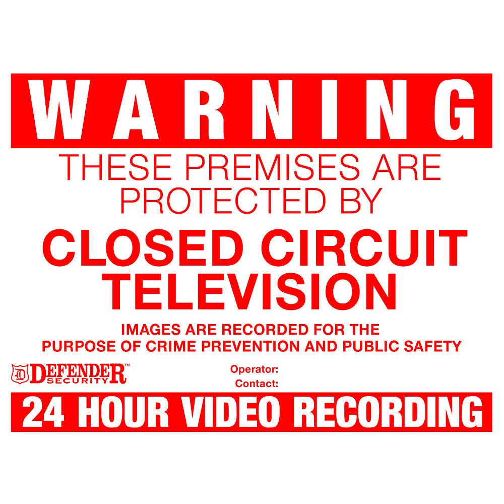 Cctv Warning Signs 4 Pack Vkws Signs Ese Direct