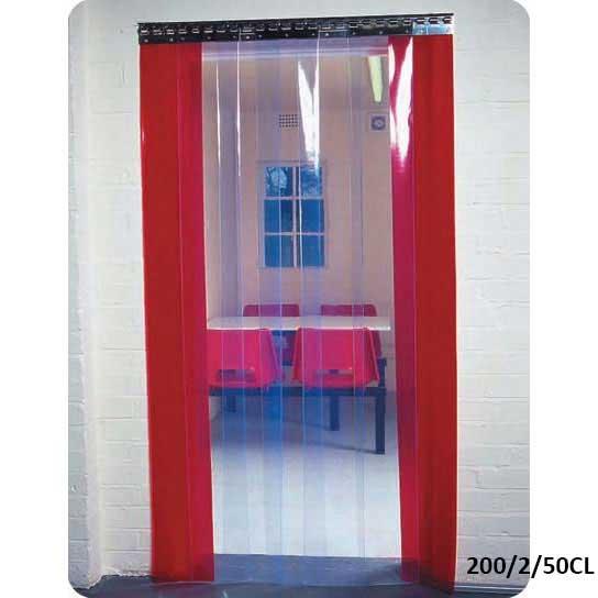 internal doorway pvc strip curtains inc rail ese direct