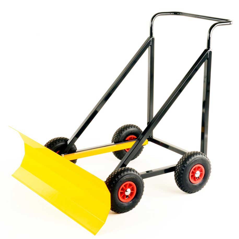 Heavy Duty Push Along Snow Plough With Adjustable Blade