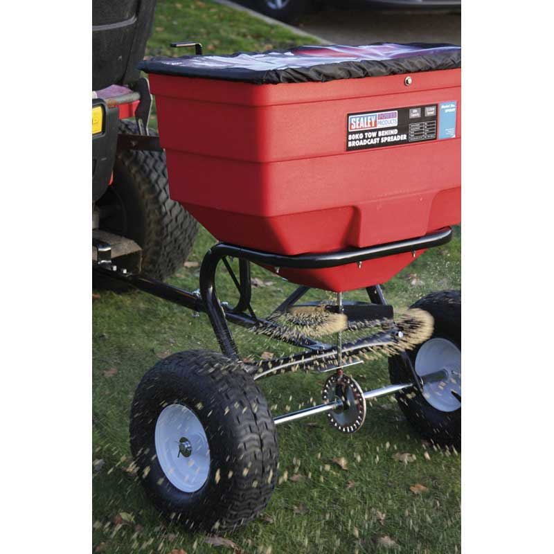 Tow Behind Broadcast Spreader : Sealey tow behind broadcast seed spreaders ese direct
