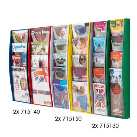 Viewpoint Multi-Pocket Wall Mounted Wall Displays