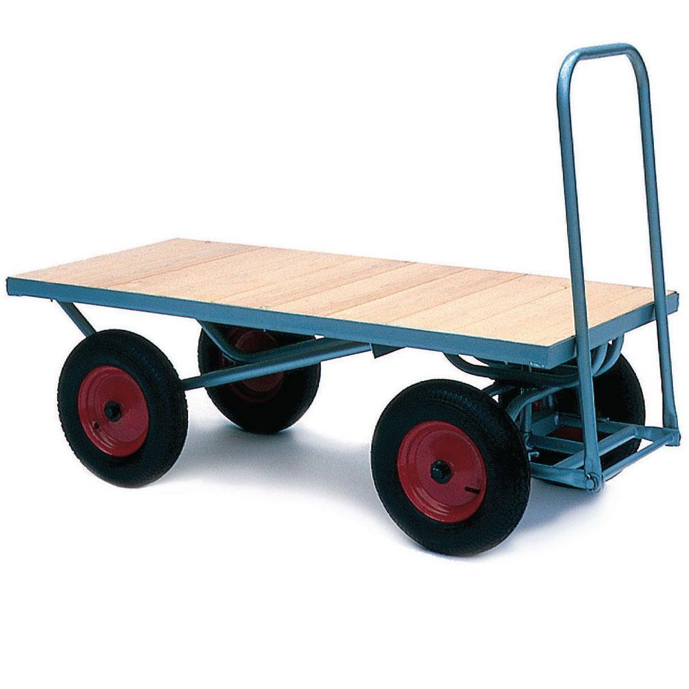 Heavy Duty Flat Turntable Trucks with 500kg Capacity