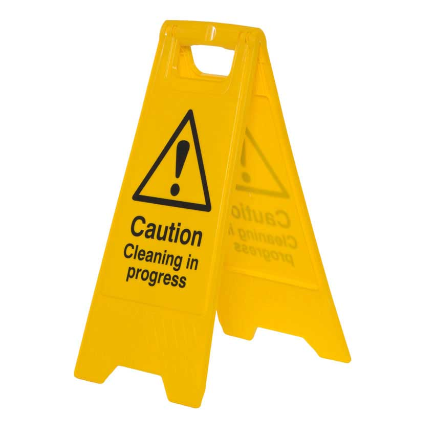 caution cleaning in progress floor sign stand c4703