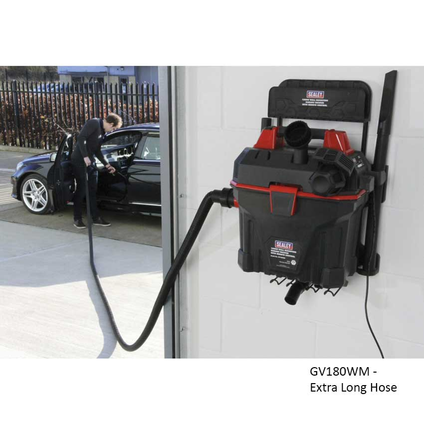 Sealey Wall Mounted Garage Vacuum Cleaner Ese Direct