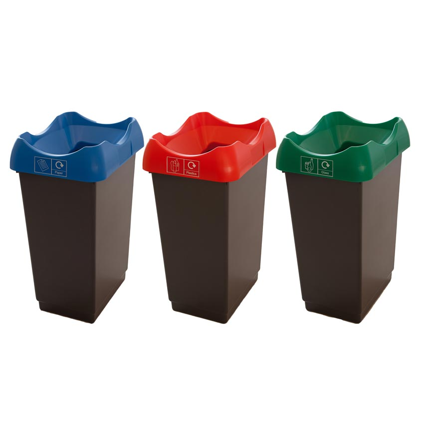 Waste Recycling Bins With Coloured Lids Ese Direct