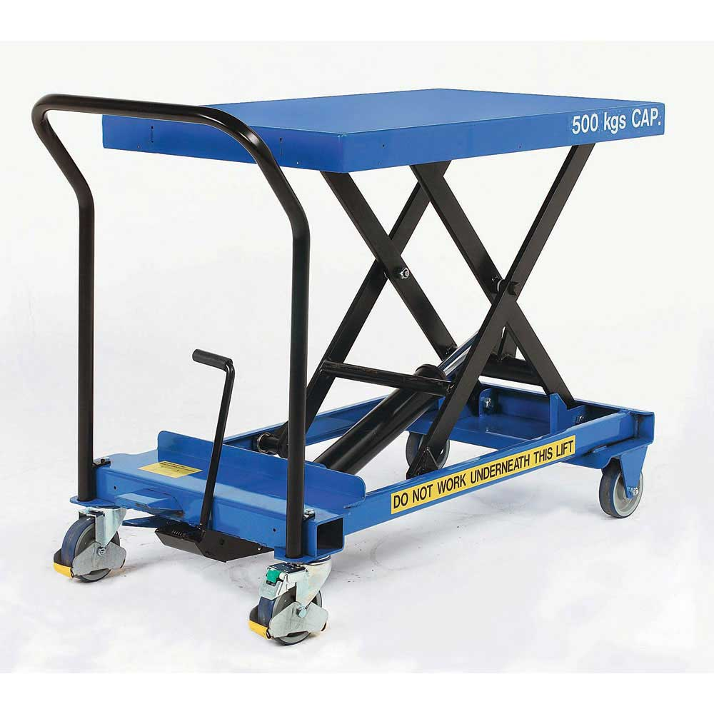 Mobile Single Scissor Lift Tables Hydraulic Scissor Lift