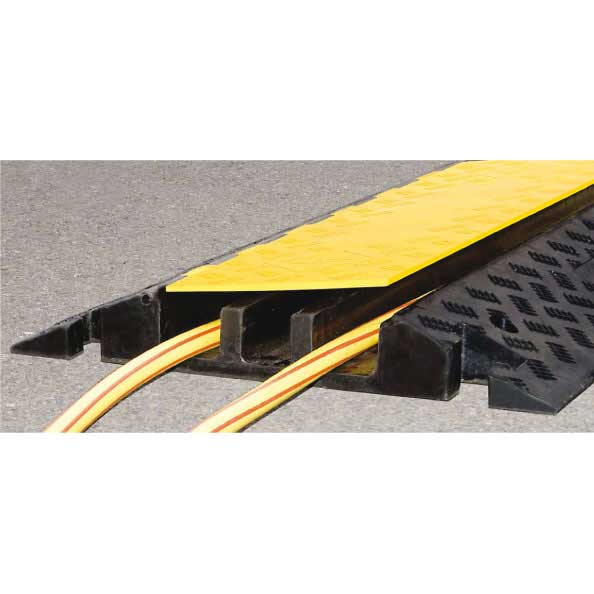 traffic heavy duty cable protector ramp for vehicles 960mm long with hinged lid. Black Bedroom Furniture Sets. Home Design Ideas