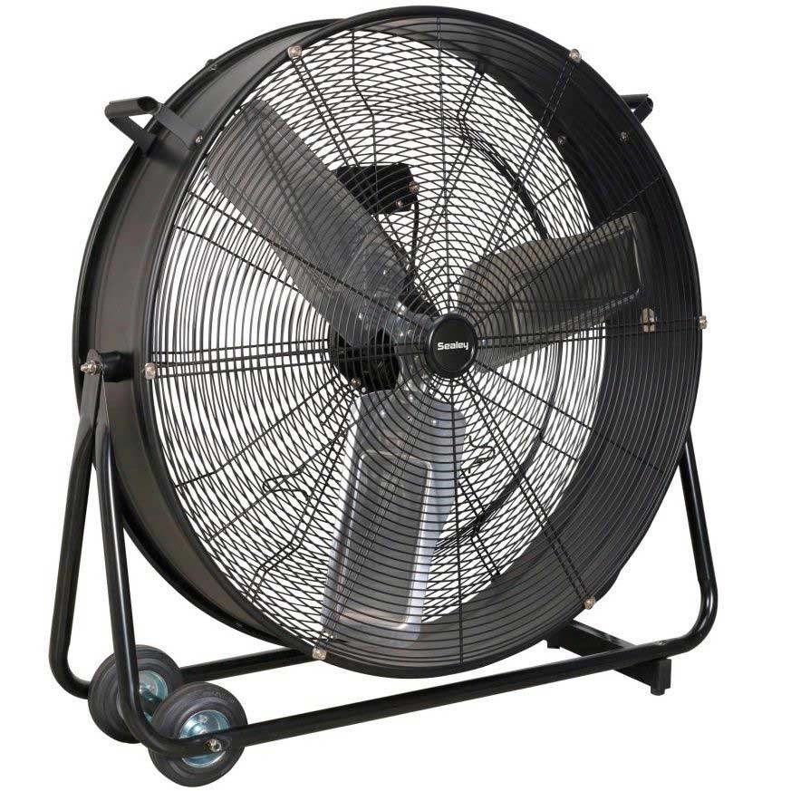 Product Industrial Fans : Sealey hvd quot industrial high velocity drum fan
