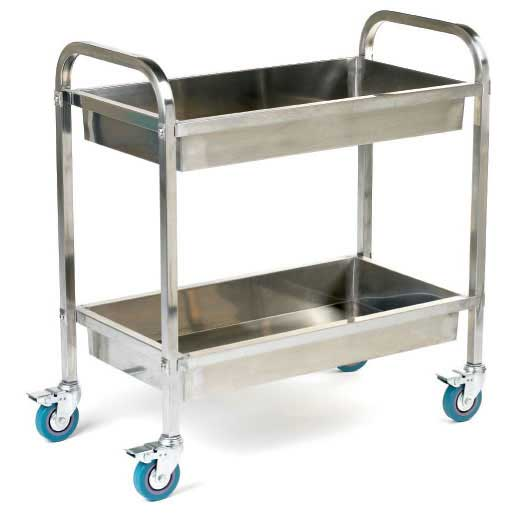 Marvelous 304 Grade 100mm Deep Tray Stainless Steel Trolley Amazing Ideas