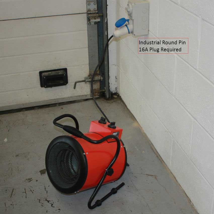 Sealey industrial fan heater 3kw with 2 heat settings for How much to install a garage heater
