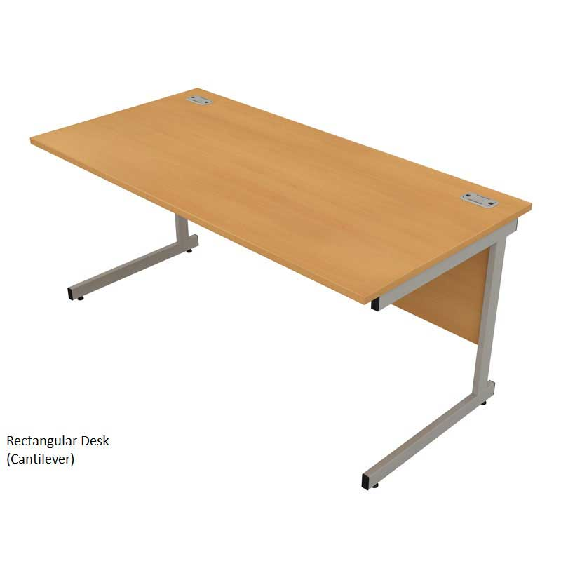 Satellite Cantilever Rectangular Desks