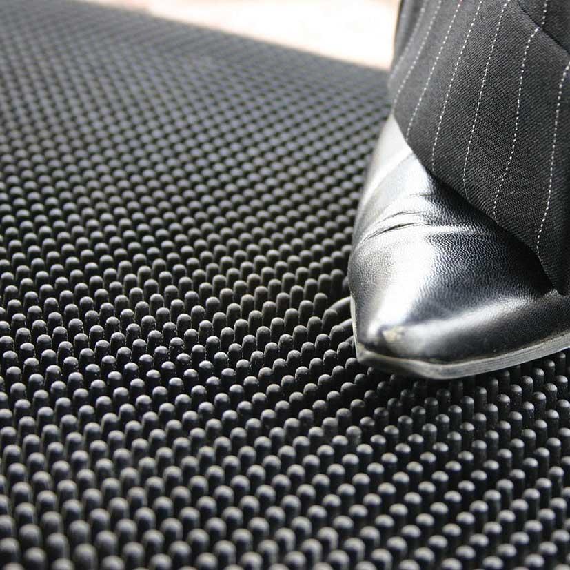 filigree round wrought fleur rubber door doormats de iron half en ig lis mat