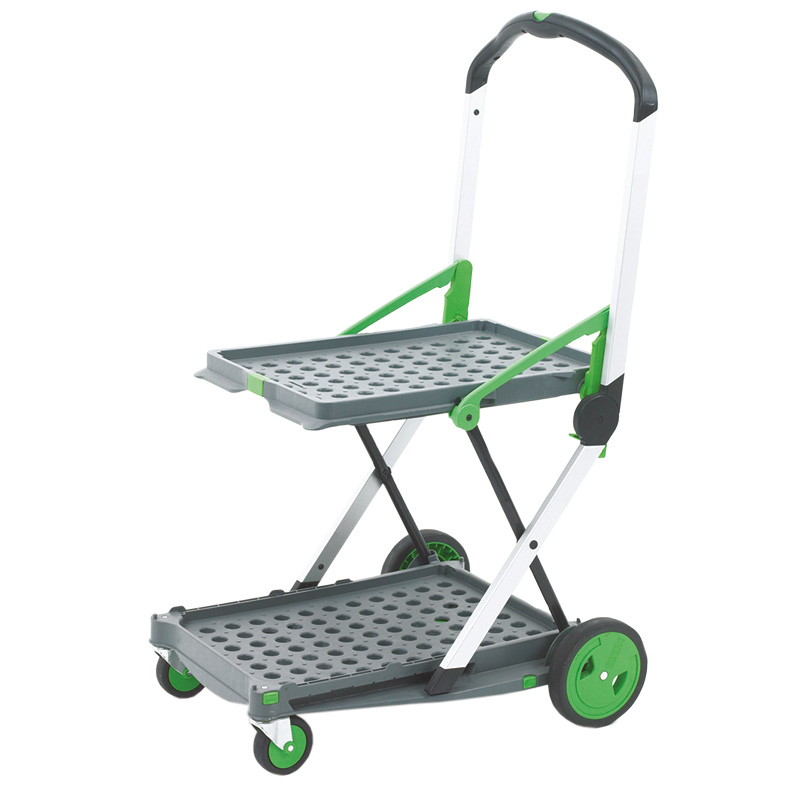 Plastic Aluminium Folding Trolley With Box Amp Tray With