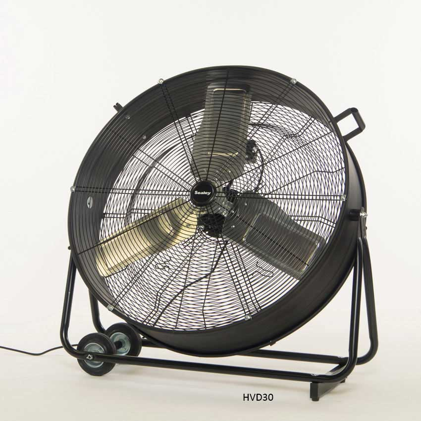 High Velocity Industrial Fans : Sealey hvd quot industrial high velocity drum fan