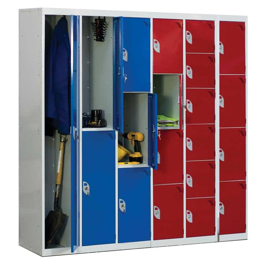 6 Compartment 6 Door Steel Lockers Ese Direct