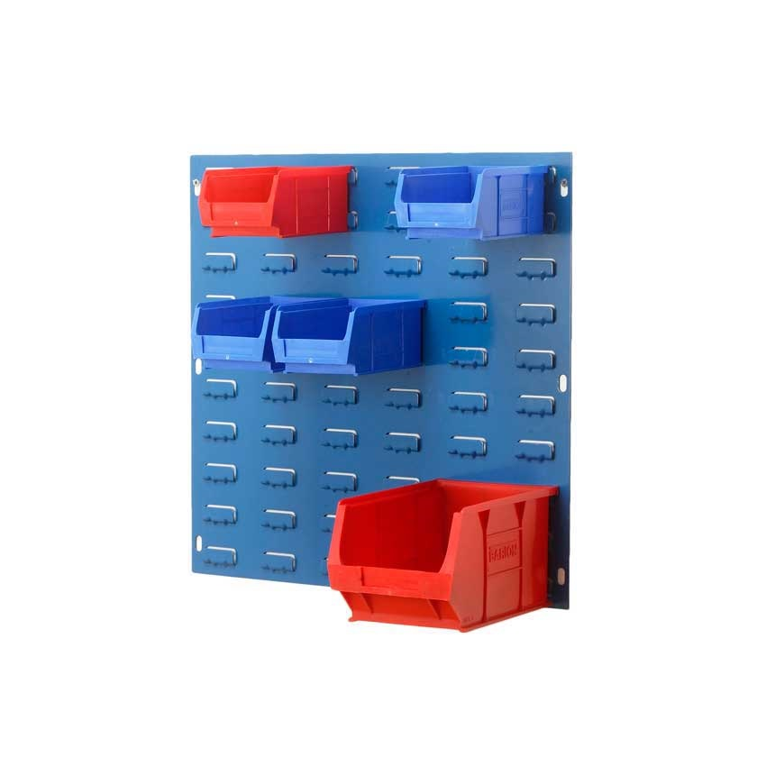Louvre Panels for wall mounting plastic bins - ESE Direct
