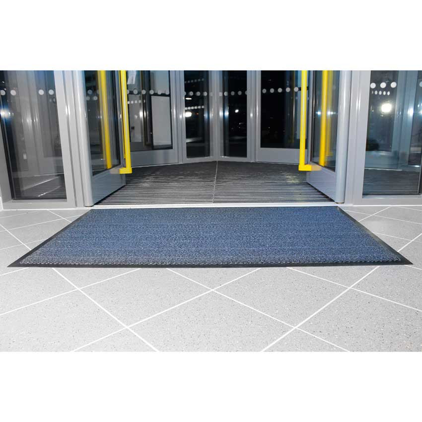 Vynaplush Entrance Mats Blue Red Brown Steel Ese Direct