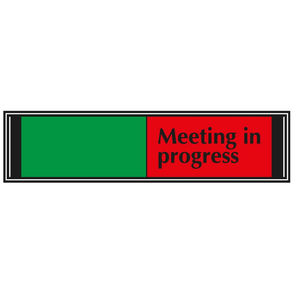blank meeting in progress sliding sign for doors g6db mp ese direct