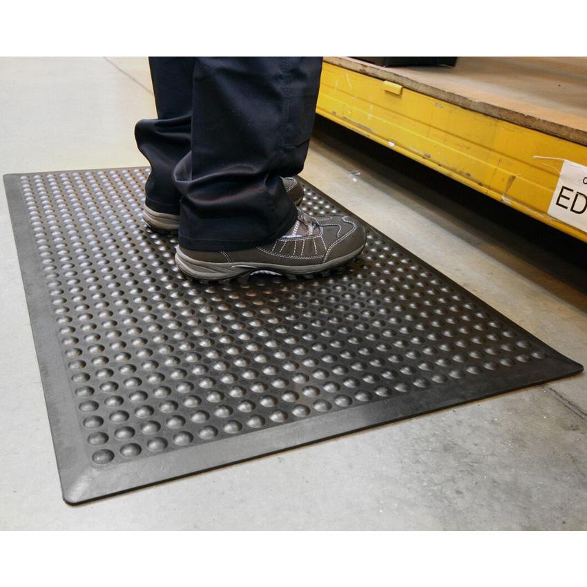 Bubblemat Black Rubber Anti-Fatigue Mat