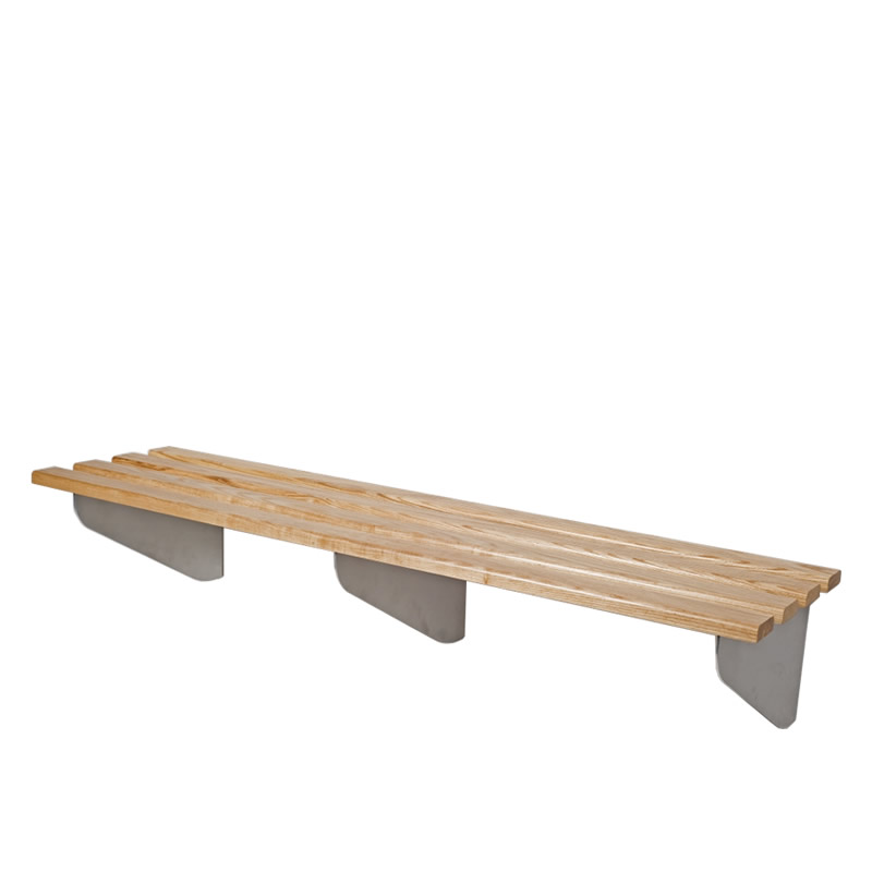 Classic Heartwood Wall Fixed Cantilever Changing Bench