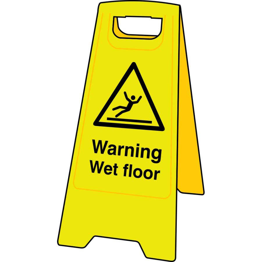 safety caution wet when signs sign floor first ml slippery