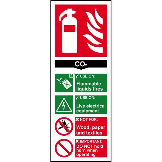 Co2 Fire Extinguisher Sign Ese Direct