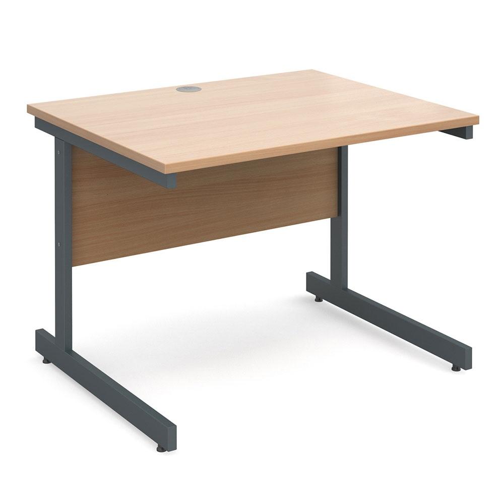 Contract 25 Cantilever Desks, Wave, Ergonomic & Straight Design