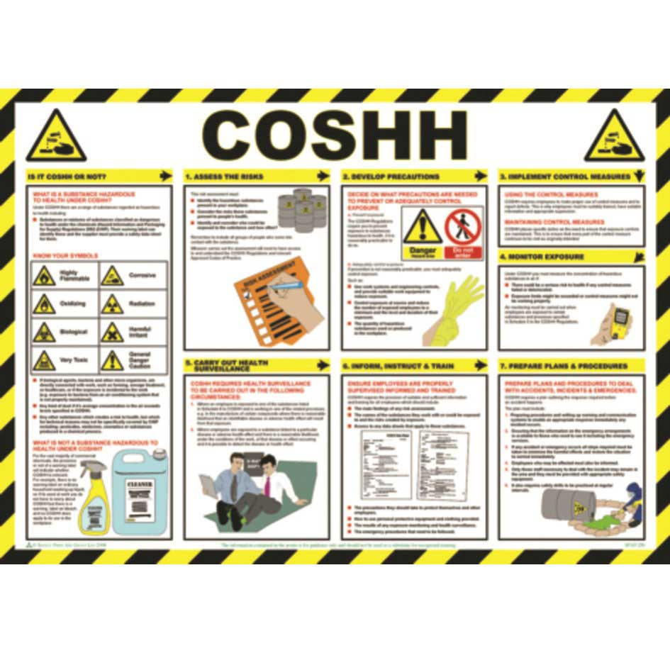 Coshh Poster Wall Chart Ese Direct