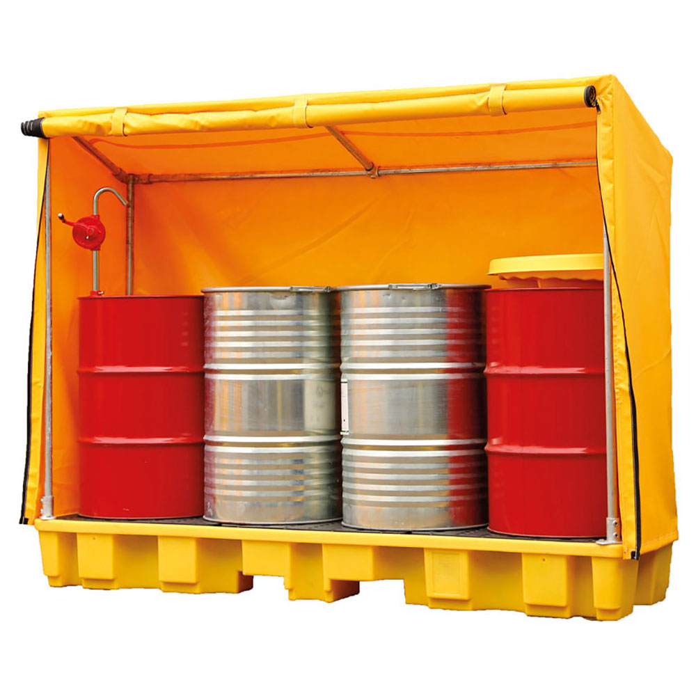 Drum Storage Spill Containment Pallets With Cover Ese Direct